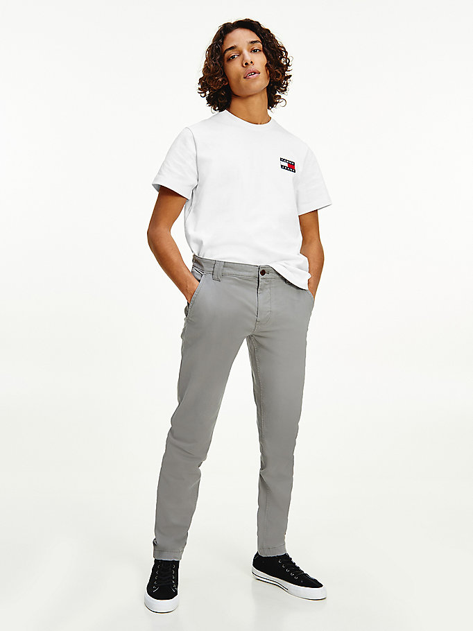 grau scanton slim fit chinos für herren - tommy jeans