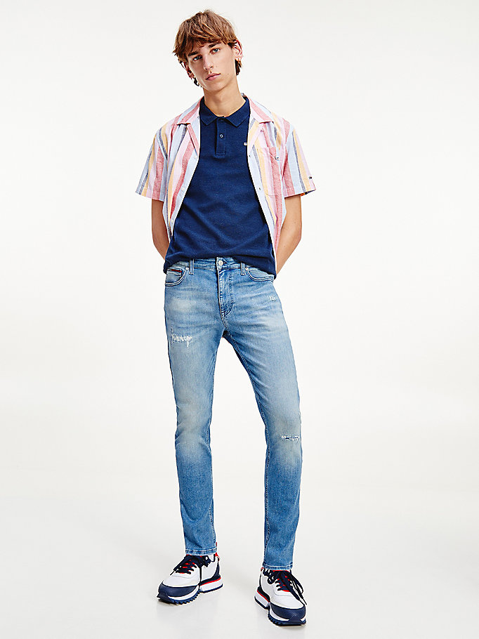 denim simon skinny faded distressed jeans for men tommy jeans