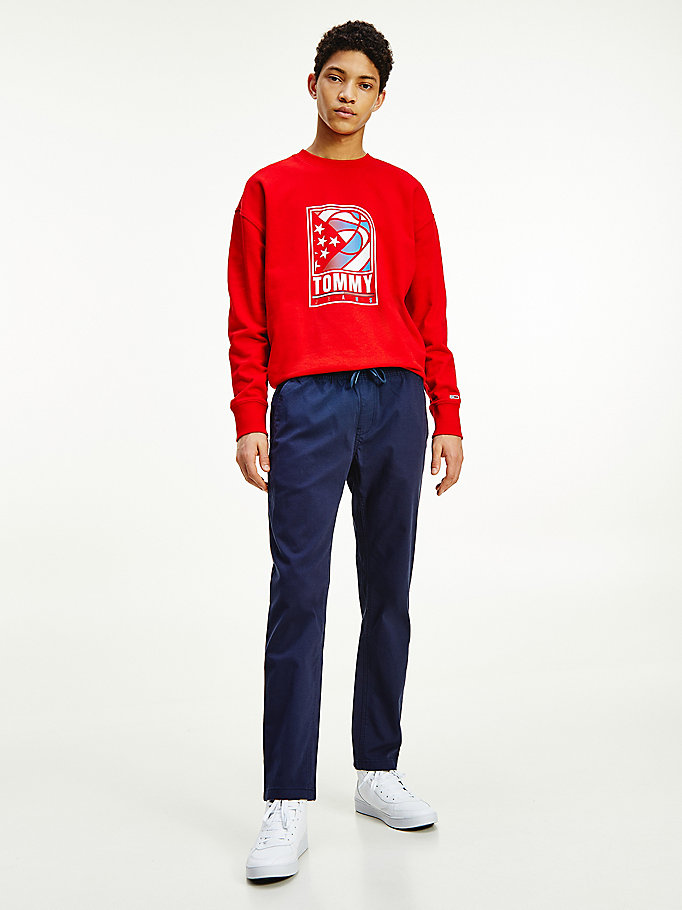blue scanton track trousers for men tommy jeans
