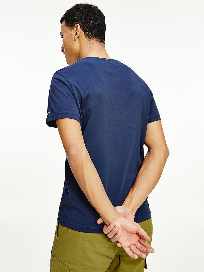 Herren Longsleeve T-Shirt Tommy Hilfiger Jeans Logo Navy DM0DM07457-C87