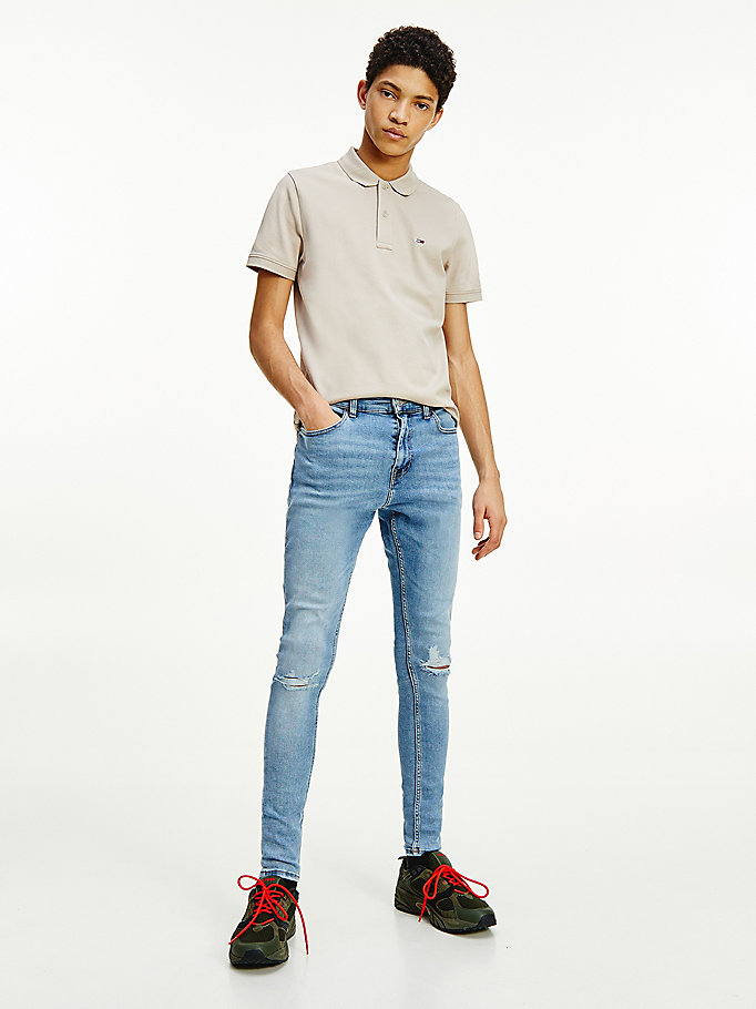 denim finley superskinny ripped jeans voor heren - tommy jeans