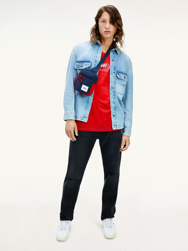 Jeans distressed Ethan relaxed fit neri