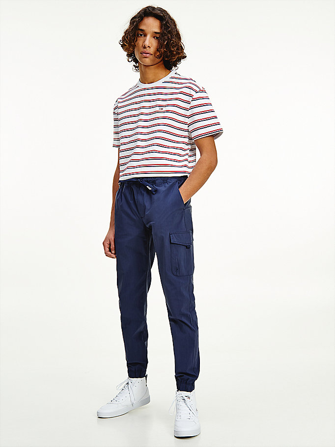 blue scanton slim joggers for men tommy jeans