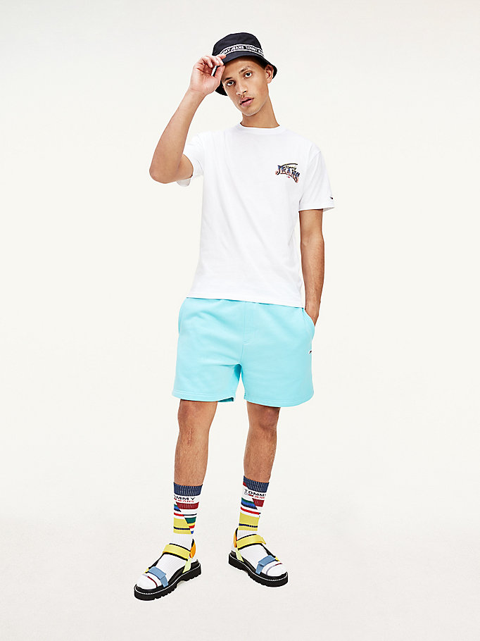 blue beach shorts for men tommy jeans