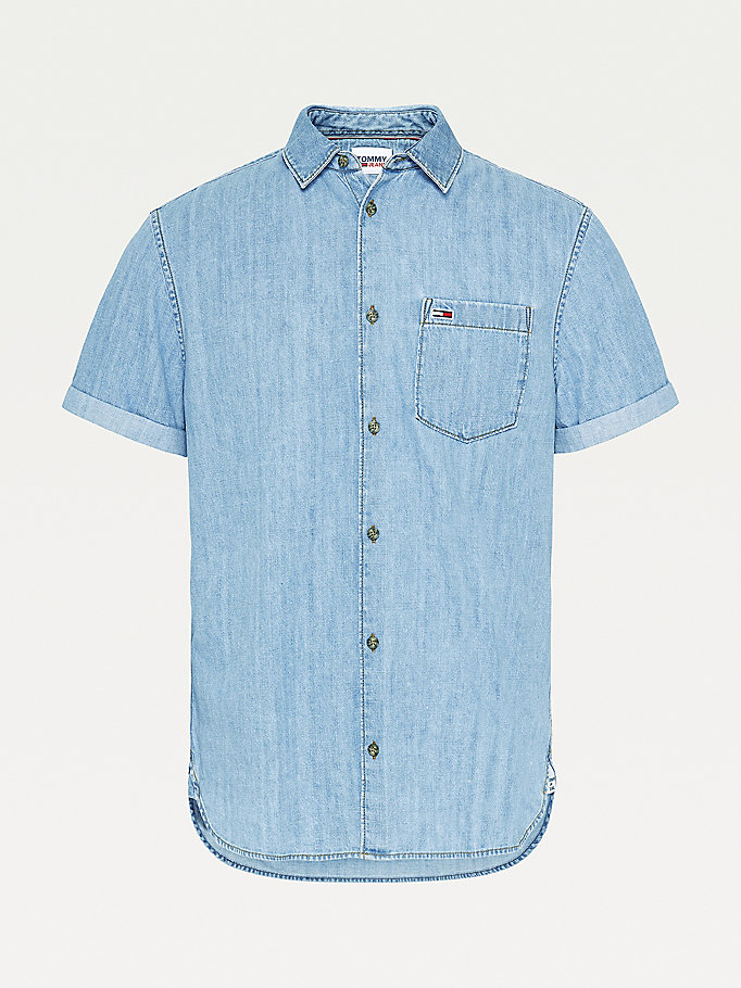 denim short sleeve denim shirt for men tommy jeans