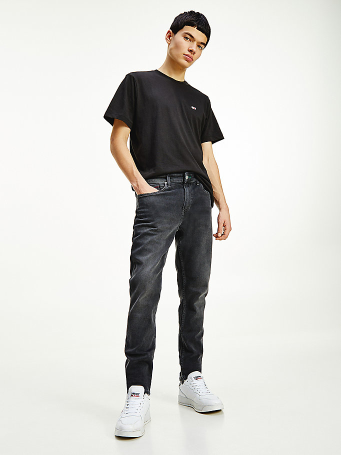 denim austin comfort faded black jeans for men tommy jeans