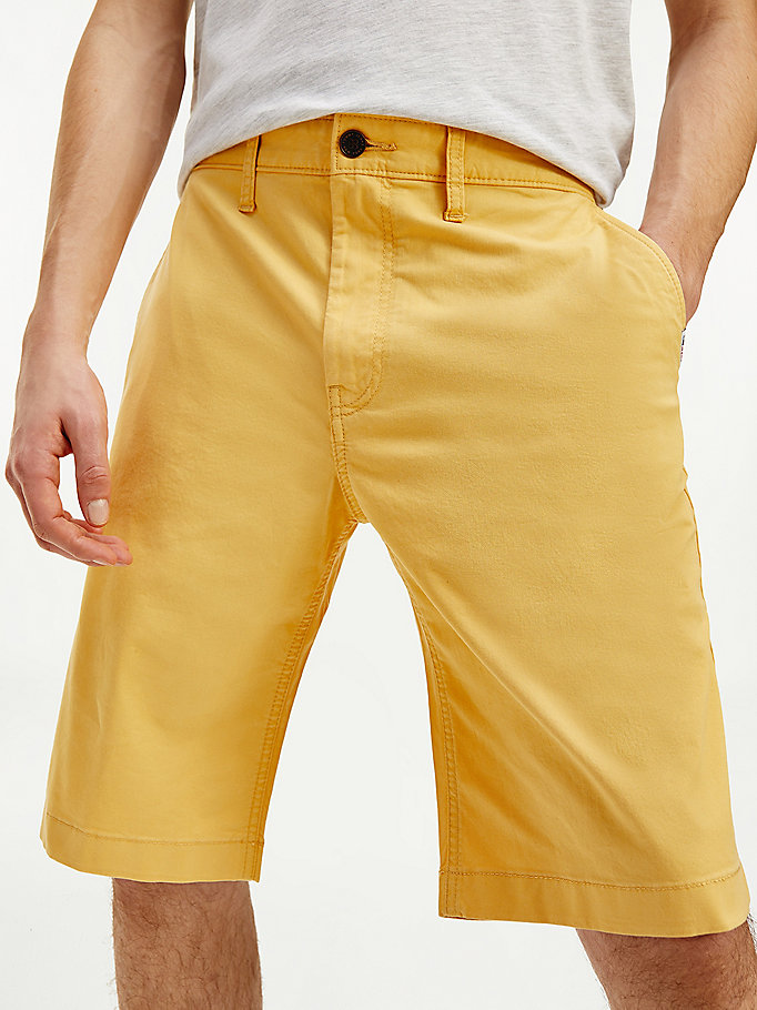 gold ethan straight chino shorts for men tommy jeans