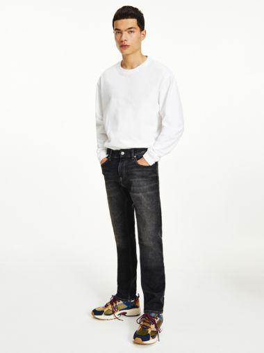 Scanton Slim Faded Black Jeans