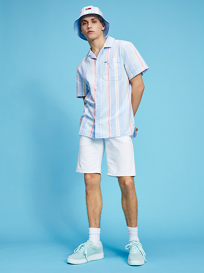 denim pastel scanton slim white shorts for men tommy jeans
