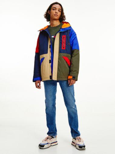 Куртка с эффектом цветовых блоков