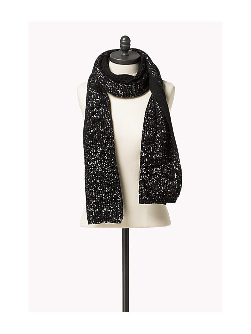 TOMMY JEANS Scarf and Beanie Gift Set - TOMMY BLACK / SILVER - TOMMY JEANS Hats, Gloves & Scarves - detail image 1