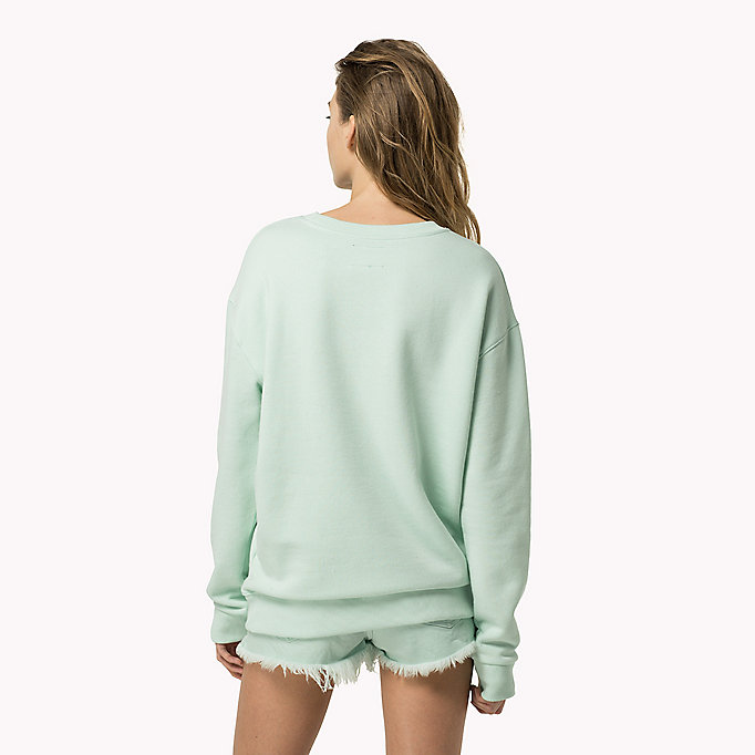 Cotton Fleece Logo Sweatshirt | Tommy Hilfiger | Official Website