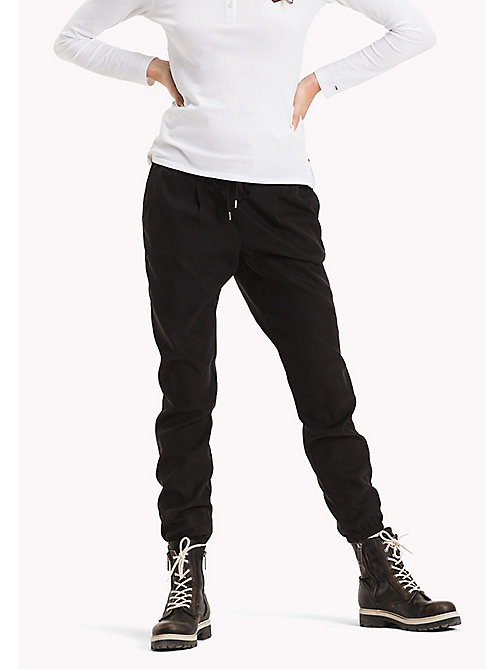 TOMMY JEANS Tencel Blend Sweatpants - BLACK BEAUTY - TOMMY JEANS Trousers - main image