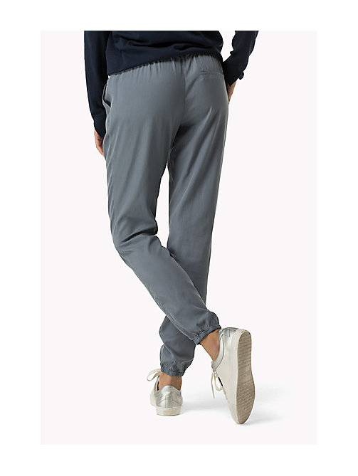 TOMMY JEANS Tencel Blend Sweatpants - FLINT STONE - TOMMY JEANS Trousers - detail image 1