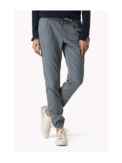 TOMMY JEANS Tencel Blend Sweatpants - FLINT STONE - TOMMY JEANS Trousers - main image