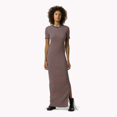 HILFIGER DENIM Rib Knit Maxi Dress - LIMOGES / MULTI - HILFIGER DENIM Dresses, Jumpsuits & Skirts - main image