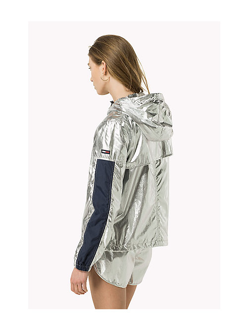 TOMMY JEANS Metallic Hooded Jacket - SILVER - TOMMY JEANS Women - detail image 1