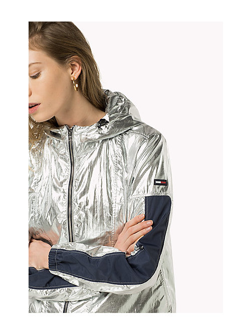 TOMMY JEANS Metallic Hooded Jacket - SILVER - TOMMY JEANS Women - main image