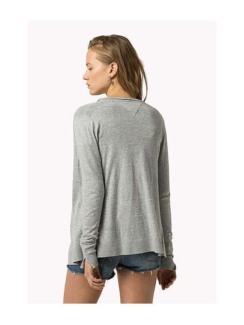 TOMMY JEANS Combed Cotton Cardigan - MID GREY HEATHER - TOMMY JEANS Women - detail image 1