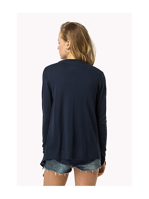 TOMMY JEANS Combed Cotton Cardigan - DRESS BLUES - TOMMY JEANS Women - detail image 1