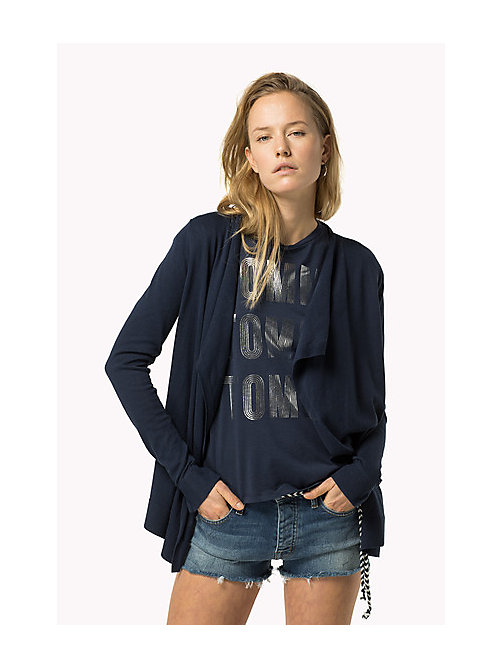 TOMMY JEANS Combed Cotton Cardigan - DRESS BLUES - TOMMY JEANS Women - main image