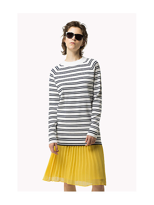 TOMMY JEANS Cotton Stripe Tunic - BRIGHT WHITE / DRESS BLUES - TOMMY JEANS Women - detail image 1