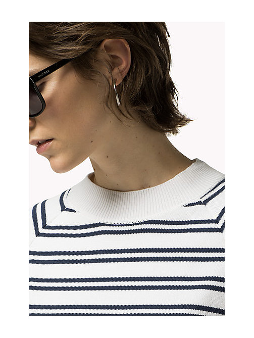 TOMMY JEANS Cotton Stripe Tunic - BRIGHT WHITE / DRESS BLUES - TOMMY JEANS Women - main image