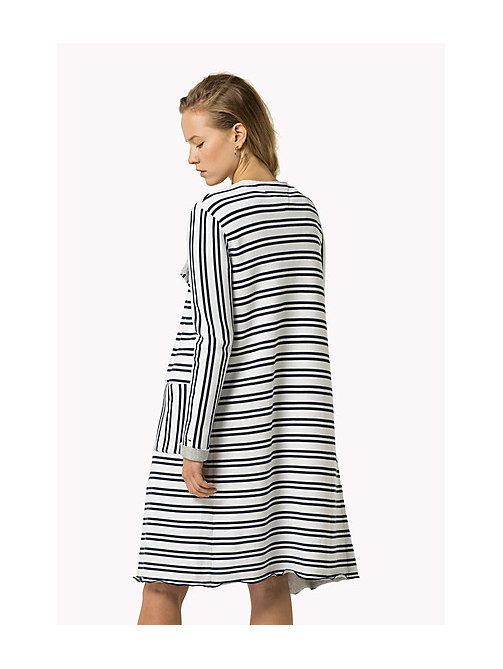 TOMMY JEANS Cotton Stripe Cardigan - BRIGHT WHITE / DRESS BLUES - TOMMY JEANS Women - detail image 1