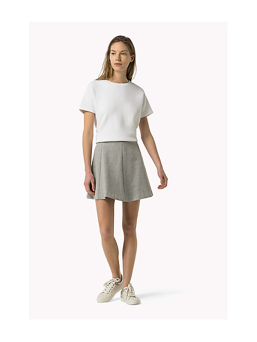 TOMMY JEANS Jersey Mini Skirt - MID GREY HEATHER - TOMMY JEANS Women - main image