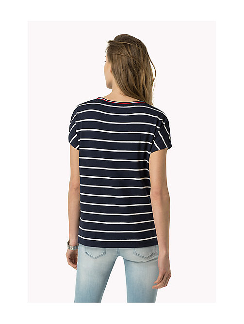 TOMMY JEANS Striped T-Shirt - DRESS BLUES / BRIGHT WHITE - TOMMY JEANS Women - detail image 1