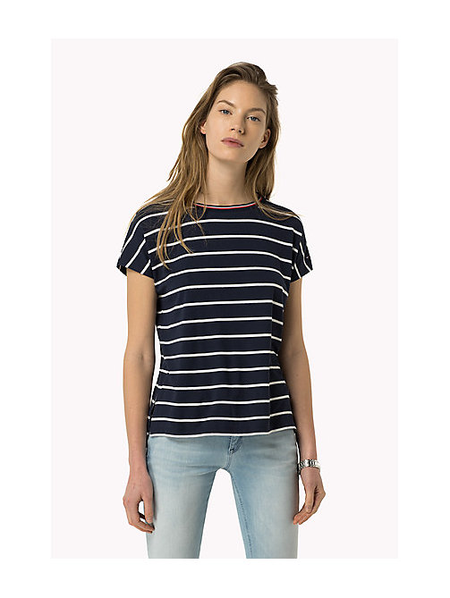 TOMMY JEANS Striped T-Shirt - DRESS BLUES / BRIGHT WHITE - TOMMY JEANS Women - main image