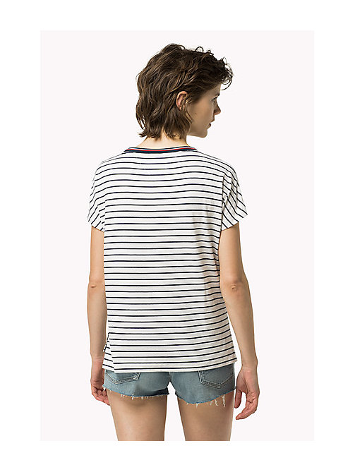 TOMMY JEANS Gestreept T-shirt - BRIGHT WHITE / DRESS BLUES - TOMMY JEANS Kleding - detail image 1