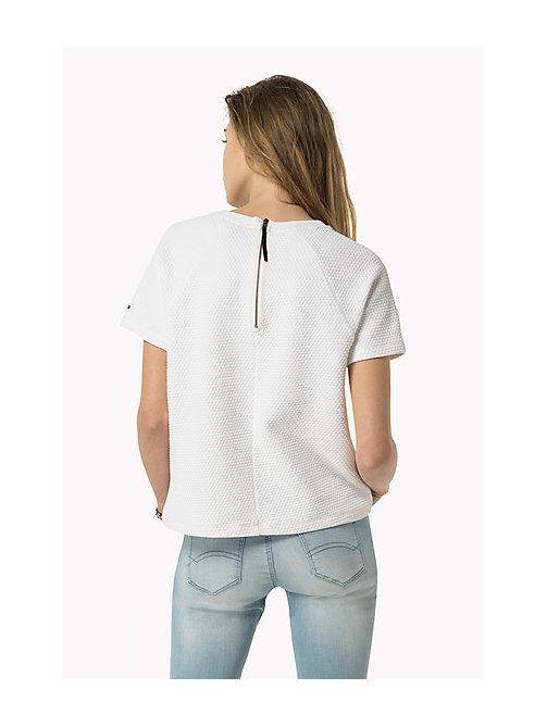 TOMMY JEANS Jacquard Knit Top - BRIGHT WHITE - TOMMY JEANS Women - detail image 1