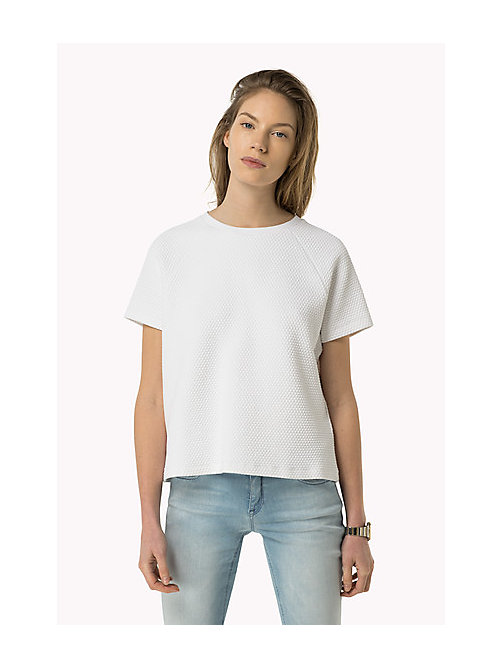 TOMMY JEANS Jacquard Knit Top - BRIGHT WHITE - TOMMY JEANS Women - main image