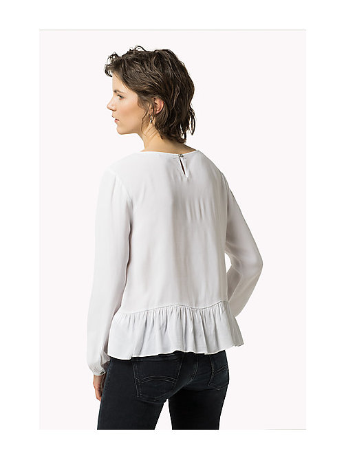 TOMMY JEANS Peplum Top - BRIGHT WHITE - TOMMY JEANS Women - detail image 1
