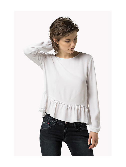 TOMMY JEANS Peplum Top - BRIGHT WHITE - TOMMY JEANS Women - main image