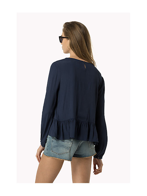 TOMMY JEANS Peplum top - DRESS BLUES - TOMMY JEANS Kleding - detail image 1