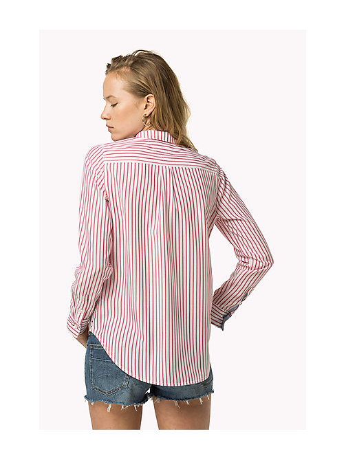 TOMMY JEANS Gestreept overhemd - BRIGHT WHITE / ROSE RED - TOMMY JEANS Kleding - detail image 1