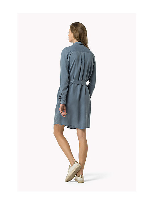 TOMMY JEANS Belted Shirt Dress - FLINT STONE - TOMMY JEANS Women - detail image 1