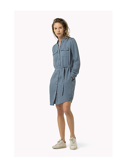 TOMMY JEANS Belted Shirt Dress - FLINT STONE - TOMMY JEANS Women - main image