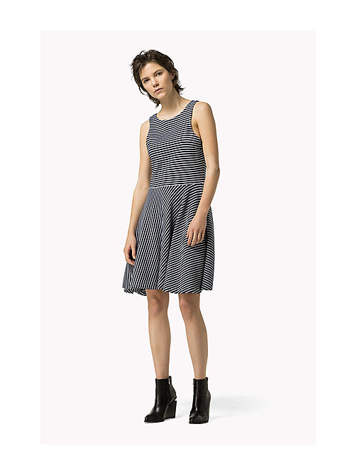 TOMMY JEANS Ottoman Jersey Dress - DRESS BLUES / BRIGHT WHITE - TOMMY JEANS Women - main image