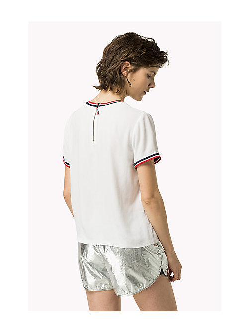 TOMMY JEANS Viscose Sporty Top - BRIGHT WHITE - TOMMY JEANS Women - detail image 1