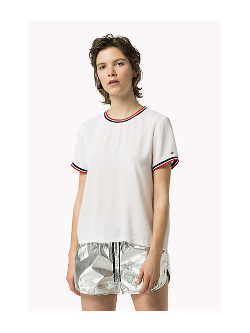 TOMMY JEANS Viscose Sporty Top - BRIGHT WHITE - TOMMY JEANS Women - main image