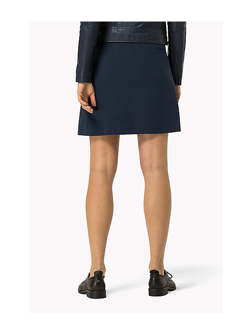 TOMMY JEANS Zip Front Jersey Skirt - DRESS BLUES - TOMMY JEANS Women - detail image 1