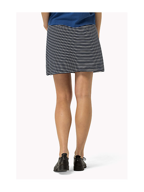 TOMMY JEANS Zip Front Jersey Skirt - DRESS BLUES / BRIGHT WHITE - TOMMY JEANS Women - detail image 1