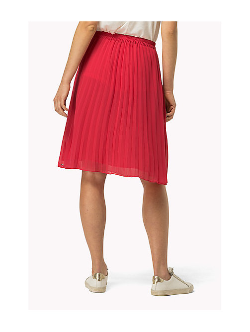 TOMMY JEANS Pleated Chiffon Skirt - ROSE RED - TOMMY JEANS Women - detail image 1