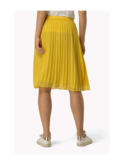 TOMMY JEANS Pleated Chiffon Skirt - SUPER LEMON - TOMMY JEANS Women - detail image 1