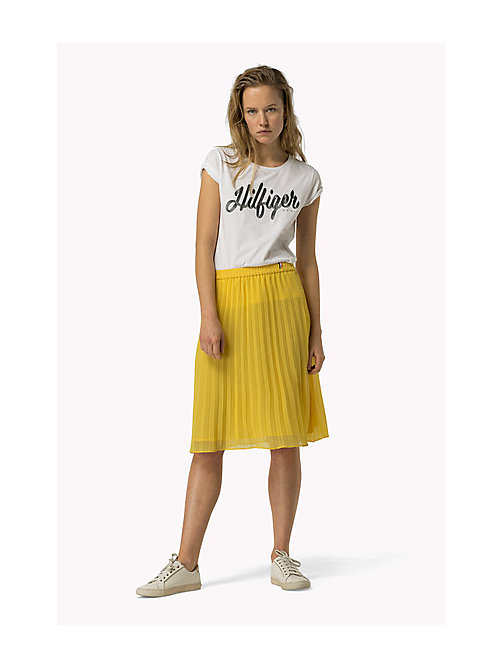TOMMY JEANS Pleated Chiffon Skirt - SUPER LEMON - TOMMY JEANS Women - main image