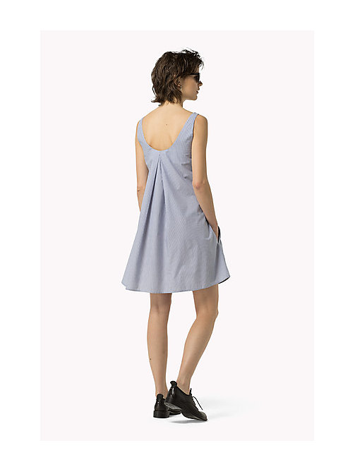 TOMMY JEANS Cotton Shift Dress - GALAXY BLUE / BRIGHT WHITE - TOMMY JEANS Women - detail image 1