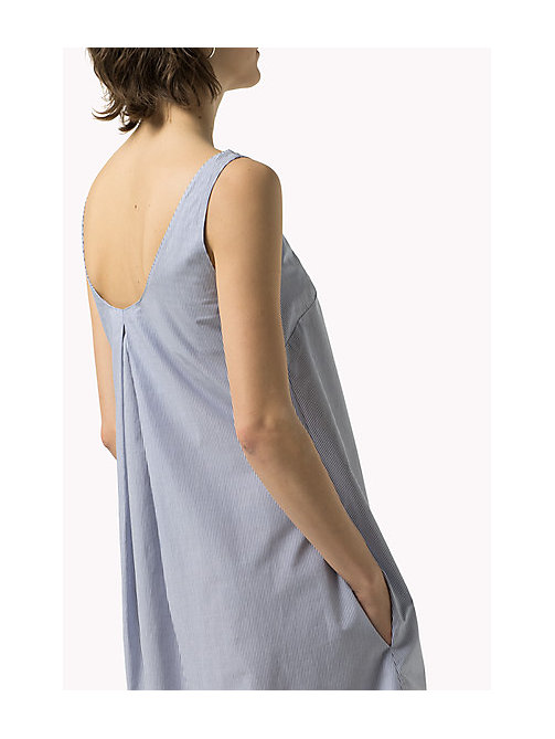TOMMY JEANS Cotton Shift Dress - GALAXY BLUE / BRIGHT WHITE -  Women - main image